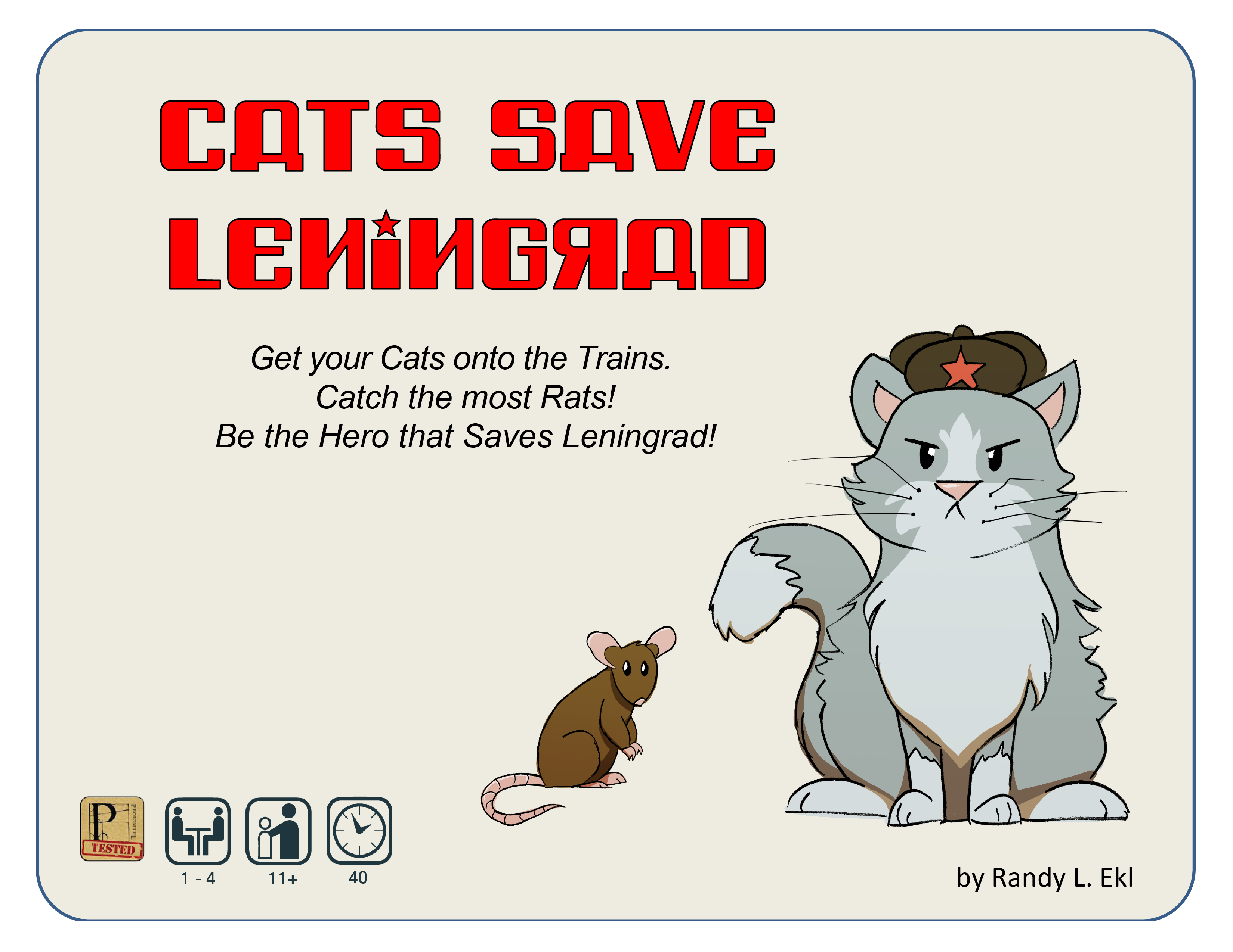 Cats Save Leningrad Deck Builder Game